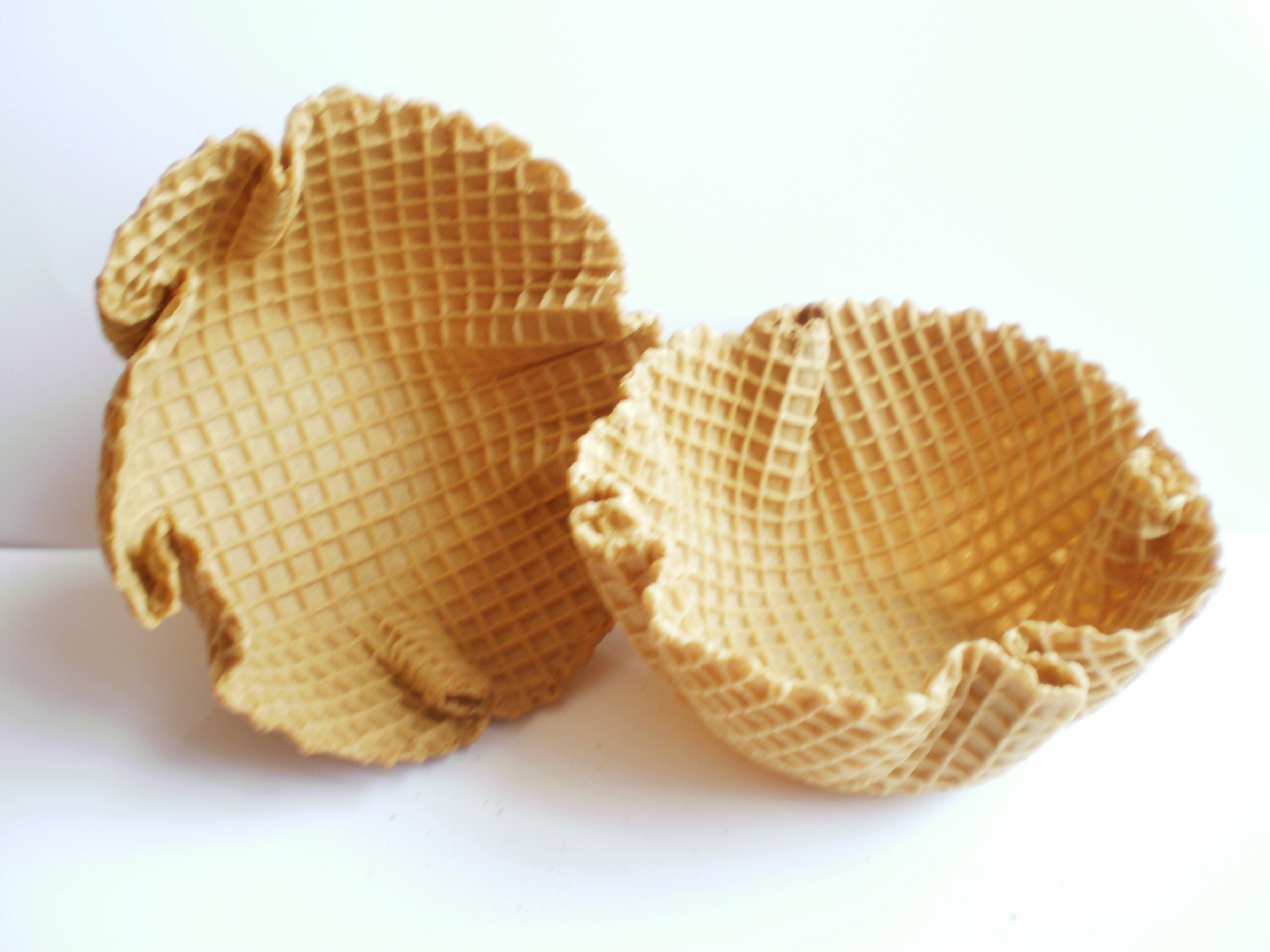 Canastitas para helados, Capelinas santa María, Canastitas de pasta